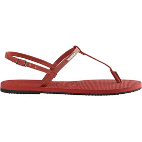havaianas You Riviera - Sandales Femme - rouge